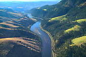 Clearwater River in foothills of Rockie Mountains