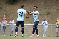 Ylyes Ziani (24) of Union and  Matthew Sorinola (7) of Union celebrate the goal during a preseason friendly soccer game between Tempo Overijse and Royale Union Saint-Gilloise, Saturday 29th of June 2021 in Overijse, Belgium. Photo: SPORTPIX.BE   SEVIL OKTEM