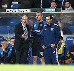 Mark Warburton and David Weir with the fourth official