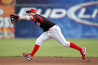 Batavia Muckdogs second baseman Colin Walsh during a game vs. the Jamestown Jammers at Dwyer Stadium in Batavia, New York July 31, 2010.   Batavia defeated Jamestown 6-1.  Photo By Mike Janes/Four Seam Images