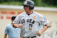 19 August 2012: David Gauthier of the Rouen Huskies scores the run during the 12-8 win over Senart, during game 4 of the French championship finals, in Rouen, France. The Rouen Huskies win their 9th title in 10 years.