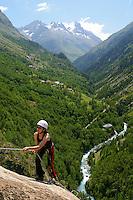 Via Ferrata non loin des Les 2 Alpes