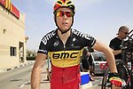 BMC Racing Team rider Belgian Champion Philippe Gilbert (BEL) before the start of the 3rd Stage of the 2012 Tour of Qatar running 146.5km from Dukhan Souq, Dukhan to Al Gharafa, Qatar. 7th February 2012.<br /> (Photo Eoin Clarke/Newsfile)