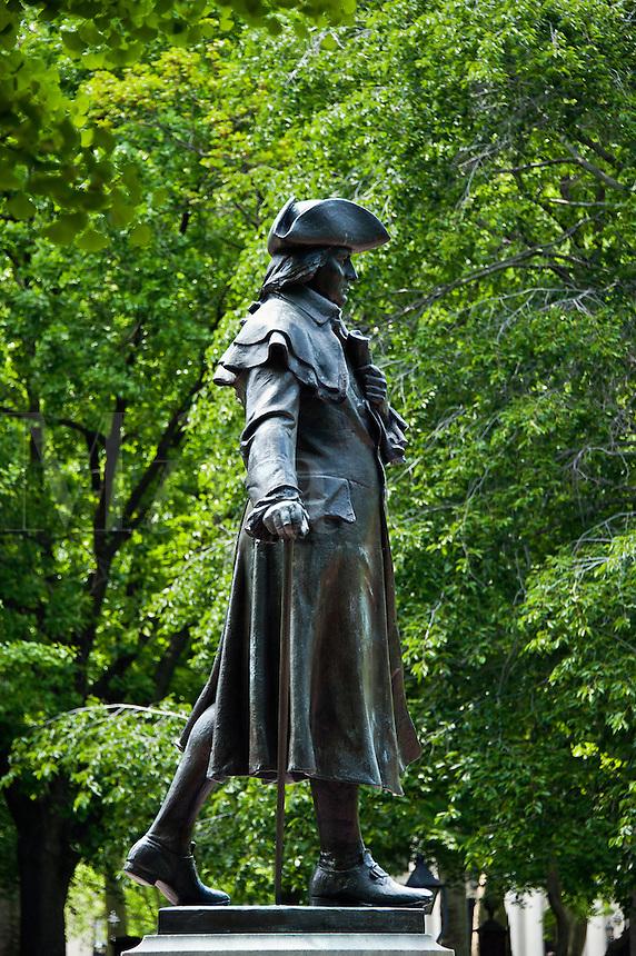 Robert Morris memorial statue, Independence National Historic Park, Philadelphia, PA, Pennsylvania