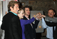 June 25, 2012 Denis Leary, Emma Stone and Andrew Garfield, of The Amazing Spider-man film, attend the lighting ceremony  to support Stand Up to Cancer at the Empire State Building in New York City. © RW/MediaPunch Inc. **NORTEPHOTO.COM*<br /> **SOLO*VENTA*EN*MEXICO**<br /> **CREDITO*OBLIGATORIO** <br /> **No*Venta*A*Terceros**