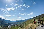Switzerland, Canton Valais, wine village Varen near Leuk: view across Rhône-Valley | Schweiz, Kanton Wallis, Weindorf Varen bei Leuk: Ausblick ins Rhonetal