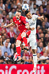 Franck Ribery (l) of FC Bayern Munich competes for the balding Carlos Henrique Casemiro of Real Madrid during their 2016-17 UEFA Champions League Quarter-finals second leg match between Real Madrid and FC Bayern Munich at the Estadio Santiago Bernabeu on 18 April 2017 in Madrid, Spain. Photo by Diego Gonzalez Souto / Power Sport Images