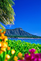 Diamond Head Crater (Leahi) is one of Oahu's most familiar landmarks.