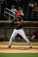 Chattanooga Lookouts Ibandel Isabel (45) at bat during a Southern League game against the Birmingham Barons on May 1, 2019 at Regions Field in Birmingham, Alabama.  Chattanooga defeated Birmingham 5-0.  (Mike Janes/Four Seam Images)