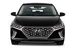 Car photography straight front view of a 2020 Hyundai Ioniq Hybrid Shine 5 Door Hatchback