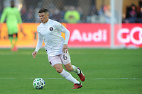 WASHINGTON, DC - MARCH 07: Will Trap #6 of Inter Miami CF moves the ball during a game between Inter Miami CF and D.C. United at Audi Field on March 07, 2020 in Washington, DC.