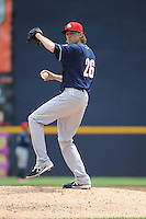New Hampshire Fisher Cats pitcher Casey Lawrence (26) during game against the Trenton Thunder at ARM & HAMMER Park on June 22, 2014 in Trenton, NJ.  New Hampshire defeated Trenton 7-2.  (Tomasso DeRosa/Four Seam Images)