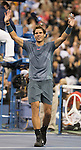 Rafael Nadal (ESP) beats Novak Djokovic (SRB) 2-6, 6-3, 6-4, 6-1 in the men's final at the US Open being played at USTA Billie Jean King National Tennis Center in Flushing, NY on September 9, 2013