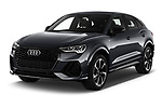 2020 Audi Q3-Sportsback S-Line 5 Door SUV Angular Front automotive stock photos of front three quarter view