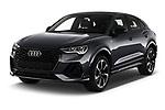 2020 Audi Q3-Sportsback S-Line 5 Door SUV Angular Front automotive stock photos of front three quarter view