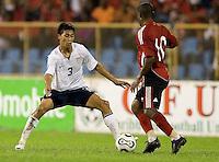 Michael Orozco, 2010 FIFA World Cup qualifying, U.S. Men vs. Trinidad & Tobago.Hasely Crawford Stadium.Port of Spain, Trinidad.October 14, 2008.Trinidad and Tobago 2, USA 1
