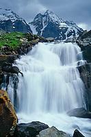 Oesa Creek and Ringrose Peaks<br /> Lake O'Hara Region<br /> Yoho  National Park,  Rocky Mountains<br /> British Columbia,  Canada