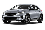Stock pictures of low aggressive front three quarter view of 2020 KIA XCeed-PHEV Business-Line 5 Door SUV Low Aggressive