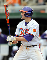 Clemson third baseman John Hinson in a game between the Clemson Tigers and Mercer Bears on Feb. 24, 2008, at Doug Kingsmore Stadium in Clemson, S.C. Photo by: Tom Priddy/Four Seam Images