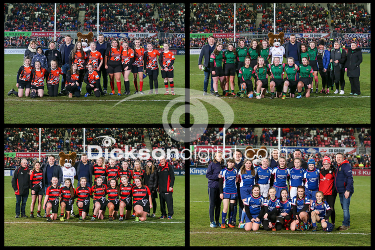 Friday 3rd January 2020 | Ulster Rugby vs Munster Rugby<br /> <br /> Halftime Mini-Rugby during the PRO14 Round 10 inter-pro clash between Ulster and Munster at Kingspan Stadium, Ravenhill Park, Belfast, Northern Ireland.  Photo by John Dickson / DICKSONDIGITAL