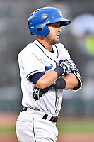 Southern Division designated hitter Max George (3) of the Asheville Tourists walks to first base during the South Atlantic League All Star Game at Spirit Communications Park on June 20, 2017 in Columbia, South Carolina. The game ended in a tie 3-3 after seven innings. (Tony Farlow/Four Seam Images)