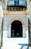 AZ: Tucson--San Xavier, Entrance.  Photo '96.