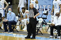 CHAPEL HILL, NC - FEBRUARY 24: Official Brian Dorsey during a game between Marquette and North Carolina at Dean E. Smith Center on February 24, 2021 in Chapel Hill, North Carolina.