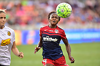 Houston, TX - Sunday Oct. 09, 2016: Francisca Ordega during the National Women's Soccer League (NWSL) Championship match between the Washington Spirit and the Western New York Flash at BBVA Compass Stadium.