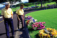 Veterans at Punchbowl Memorial on the Island of Oahu