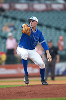 Duke Blue Devils relief pitcher Chris McGrath (21) in action against the Florida State Seminoles in the first semifinal of the 2017 ACC Baseball Championship at Louisville Slugger Field on May 27, 2017 in Louisville, Kentucky. The Seminoles defeated the Blue Devils 5-1. (Brian Westerholt/Four Seam Images)