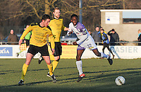 SCT Menen - RC Harelbeke :<br /> Ahmed Diallo (R) in strijd met Niels Peers (L)<br /> <br /> Foto VDB / Bart Vandenbroucke