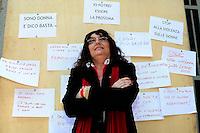 Milano 30/05/2013 Palazzo Isimbardi  - Flash Mob 'Stop alla violenza sulle donne'<br /> nella foto: Agnese Tacchini <br /> Foto Andrea Ninni / Image / Insidefoto
