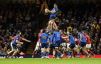 Yoann Maestri of France catches the ball from a line out during the Wales v France, 2016 RBS 6 Nations Championship, at the Principality Stadium, Cardiff, Wales, UK
