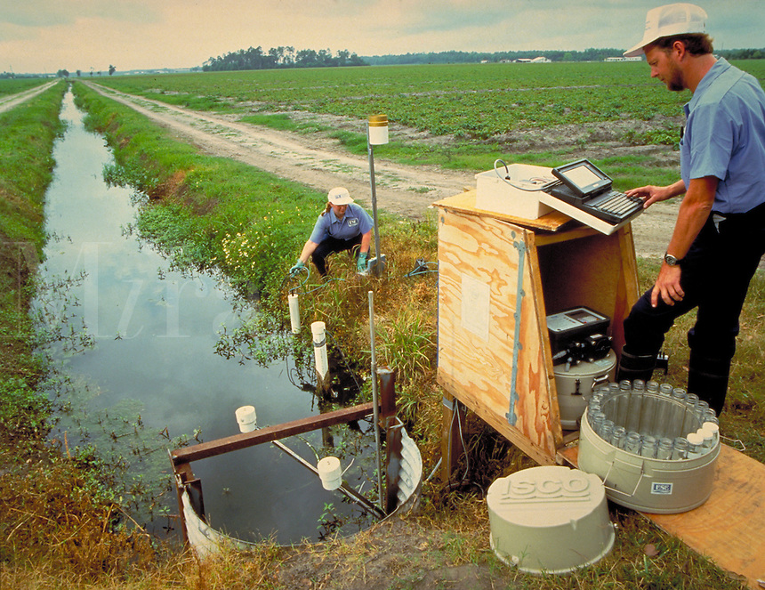 Field testing for toxins in environment. Pollution.
