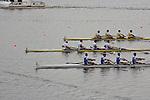 Rowing, Greece Men's Four, winning repechage, Stergios Papachristos, Ioannis Tsilis, Nikolaos Gkountoulas, Apostolos Gkountoulas, stroke, Wednesdat November 3, 2010, 2010 FISA World Rowing Championships, 2010, Lake Karapiro, Karapiro, Hamilton, New Zealand,