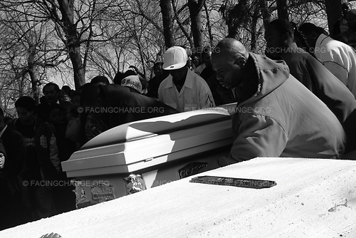 Chicago Illinois, USA<br /> October 2008<br /> <br /> Members of the way family laid to rest three for white.