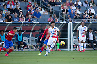 CARSON, CA - FEBRUARY 1: Brandon Servania #16 of the United States moves along the sideline during a game between Costa Rica and USMNT at Dignity Health Sports Park on February 1, 2020 in Carson, California.