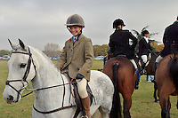 Cambridgeshire, England, 05/11/2003..The Fitzwilliam Hunt on their first meet of what may be the last legal hunting season in the UK, as Parliament moves to ban hunting with dogs.