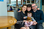 Dr Paul Morrison at home in Lispole with his wife Bríd and children Laoise 15 months and Eoin 11.