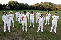 Wanstead players pose for a socially distanced team photo after clinching the Gooch Division (Premier Tier) title during Brentwood CC vs Wanstead and Snaresbrook CC, Essex Cricket League Cricket at The Old County Ground on 12th September 2020