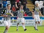 St Mirren v St Johnstone...19.10.13      SPFL<br /> Paul McGowan celebrates his goal, St Mirren's second<br /> Picture by Graeme Hart.<br /> Copyright Perthshire Picture Agency<br /> Tel: 01738 623350  Mobile: 07990 594431