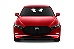 Car photography straight front view of a 2019 Mazda Mazda3 Skydrive 5 Door Hatchback Front View