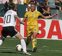 Karolina Westberg, Germany 2-1 over Sweden at the  WWC 2003 Championships.