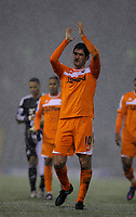 Pictured: Danny Graham of Swansea thanking supporters after the final whistle. Saturday, 04 February 2012<br /> Re: Premier League football, West Bromwich Albion v Swansea City FC v at the Hawthorns Stadium, Birmingham, West Midlands.