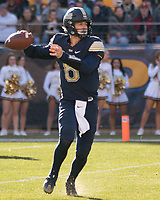 Pitt quarterback Kenny Pickett; The Pitt Panthers upset the undefeated Miami Hurricanes 24-14 on November 24, 2017 at Heinz Field, Pittsburgh, Pennsylvania.