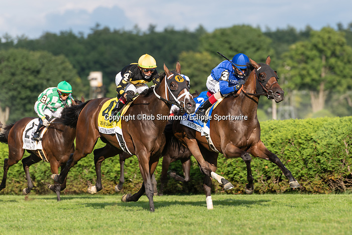 August 16, 2020:  Antionette #3 ridden by John Velazquez trained by W. I. Mott wins the The Saratoga Oaks Invitational at Saratoga Race Course in Saratoga Springs, New York. Rob Simmons/CSM