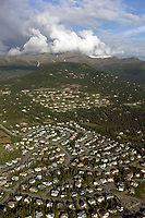 aerial photograph of a residential development in Anchorage, Alaska