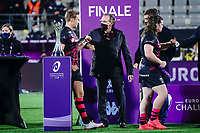16th October 2020, Stade Maurice David, Aix-en-Provence, France;  Challenge Cup Rugby Final Bristol Bears versus RC Toulon;  Winners trophy presentatration by Bruno Muselier to Callum Sheedy (Bristol Bears)