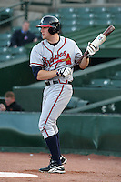 Richmond Braves Scott Thorman during an International League game at Frontier Field on April 17, 2006 in Rochester, New York.  (Mike Janes/Four Seam Images)