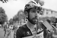 Thomas De Gendt (BEL/OPQS)  finished 4th after forcing the decisive move that split the breakaway group with 29 km to go<br /> <br /> 2014 Giro d'Italia <br /> stage 17: Sarnonico - Vittori Veneto (208km)